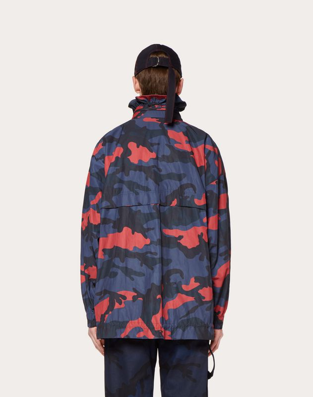 CAMOUFLAGE BLOUSON WITH VLTN PRINT