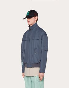 BLOUSON WITH VLOGO PRINT