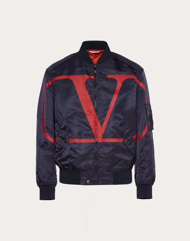 BOMBER JACKET WITH VLOGO PRINT