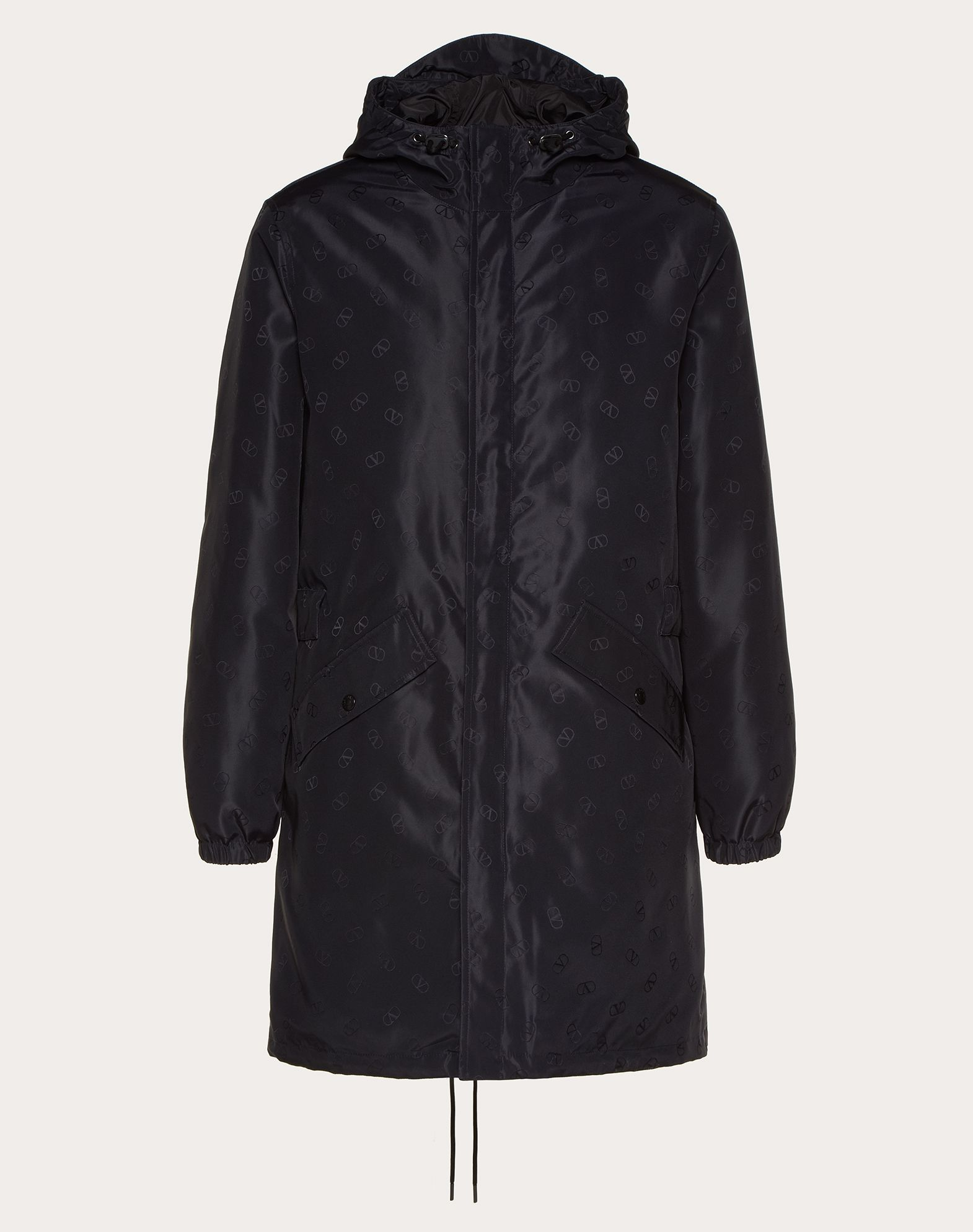 PARKA WITH MICRO VLOGO PRINT