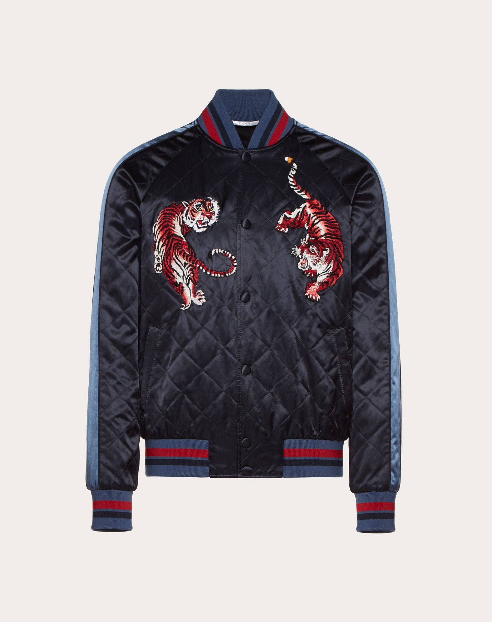 BOMBER JACKET WITH GO TIGER EMBROIDERY