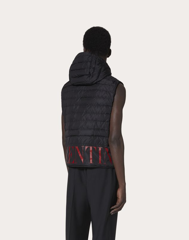 SLEEVELESS COAT WITH VALENTINO PRINT