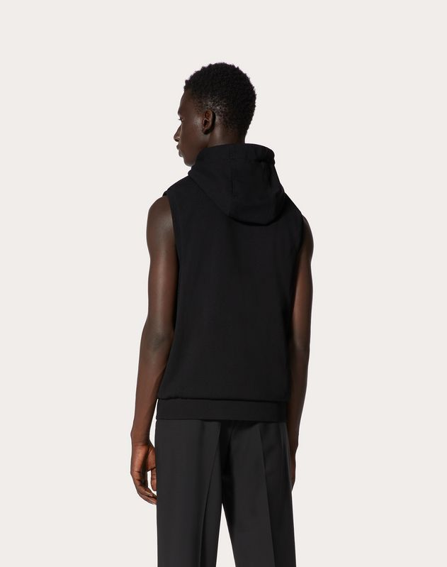 VLTN HOODED VISCOSE GILET