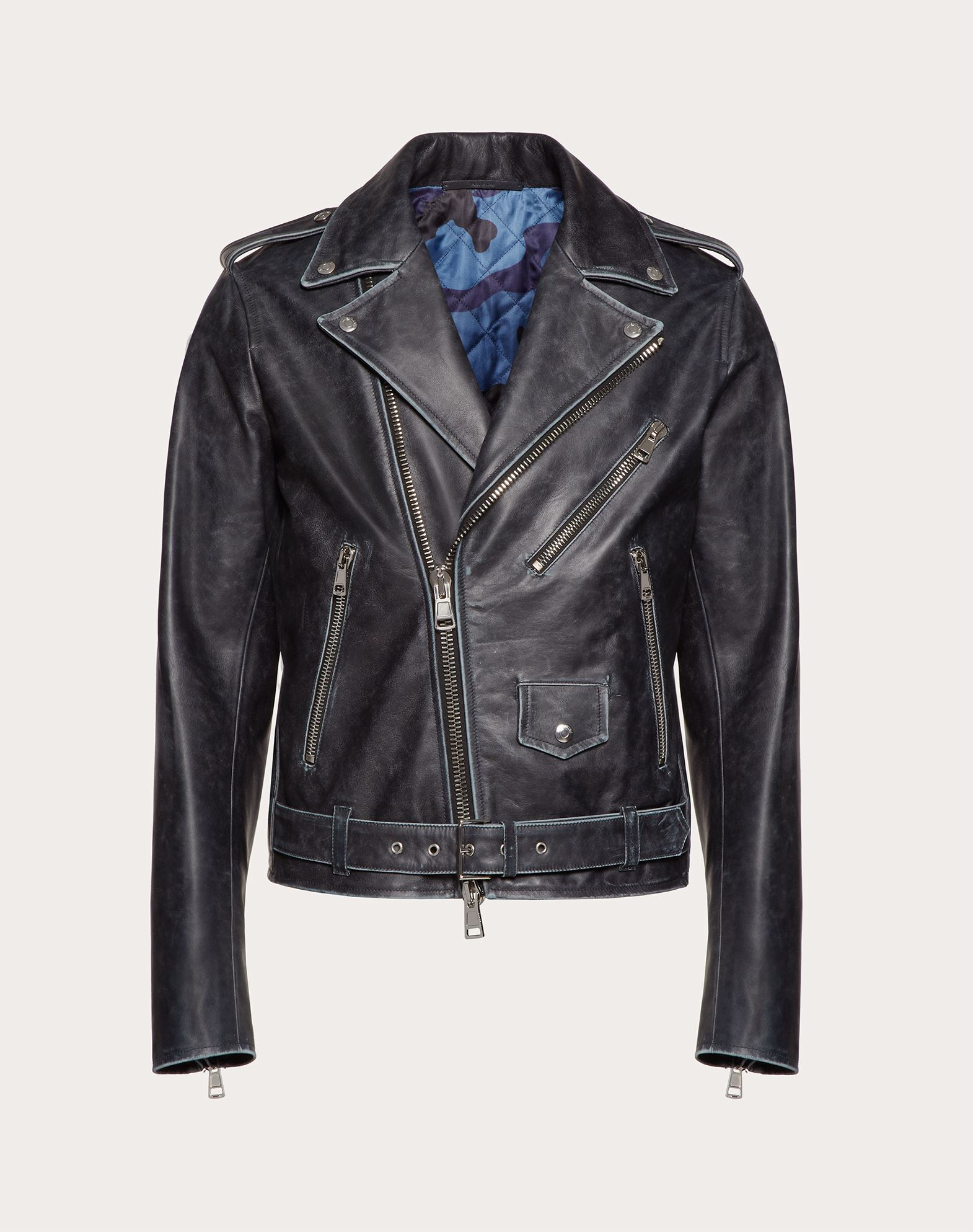BULLHIDE LEATHER BIKER JACKET