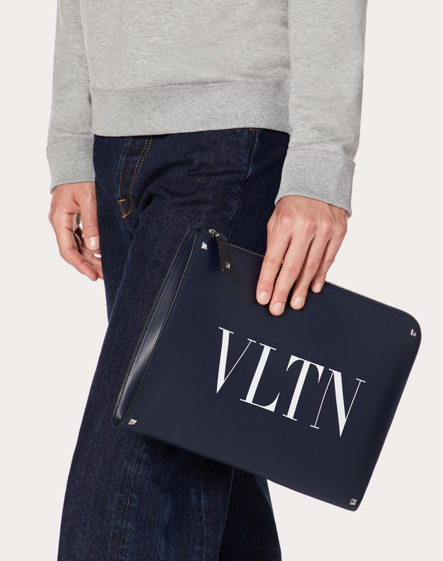 PORTE-DOCUMENTS VLTN EN CUIR