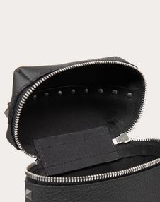 GRAIN CALFSKIN LEATHER ROCKSTUD CROSSBODY BAG