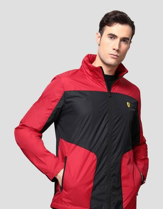 Scuderia Ferrari Online Store - Foldable men's jacket in water resistant fabric - Raincoats