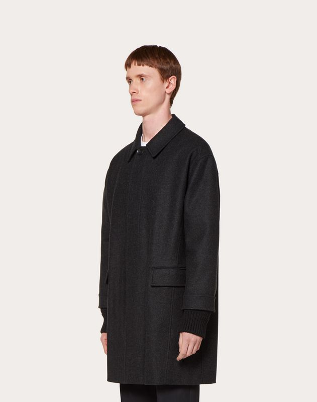 DOUBLE SLEEVE WOOL COAT