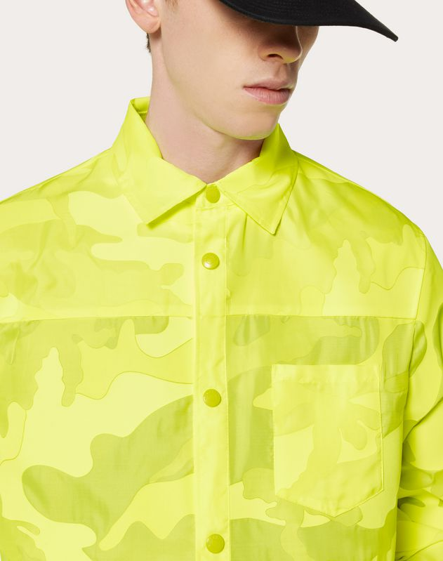 CAMOUFLAGE HOODED NYLON JACKET