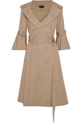 ALICE + OLIVIA Carver double-breasted cotton-blend twill trench coat