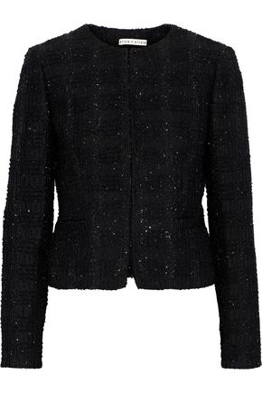 ALICE + OLIVIA Kidman sequin-embellished metallic tweed blazer