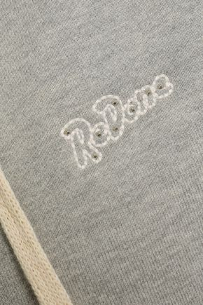 RE/DONE Mélange cotton hooded jacket