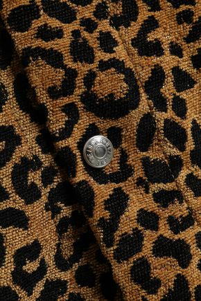 RE/DONE Leopard-jacquard jacket