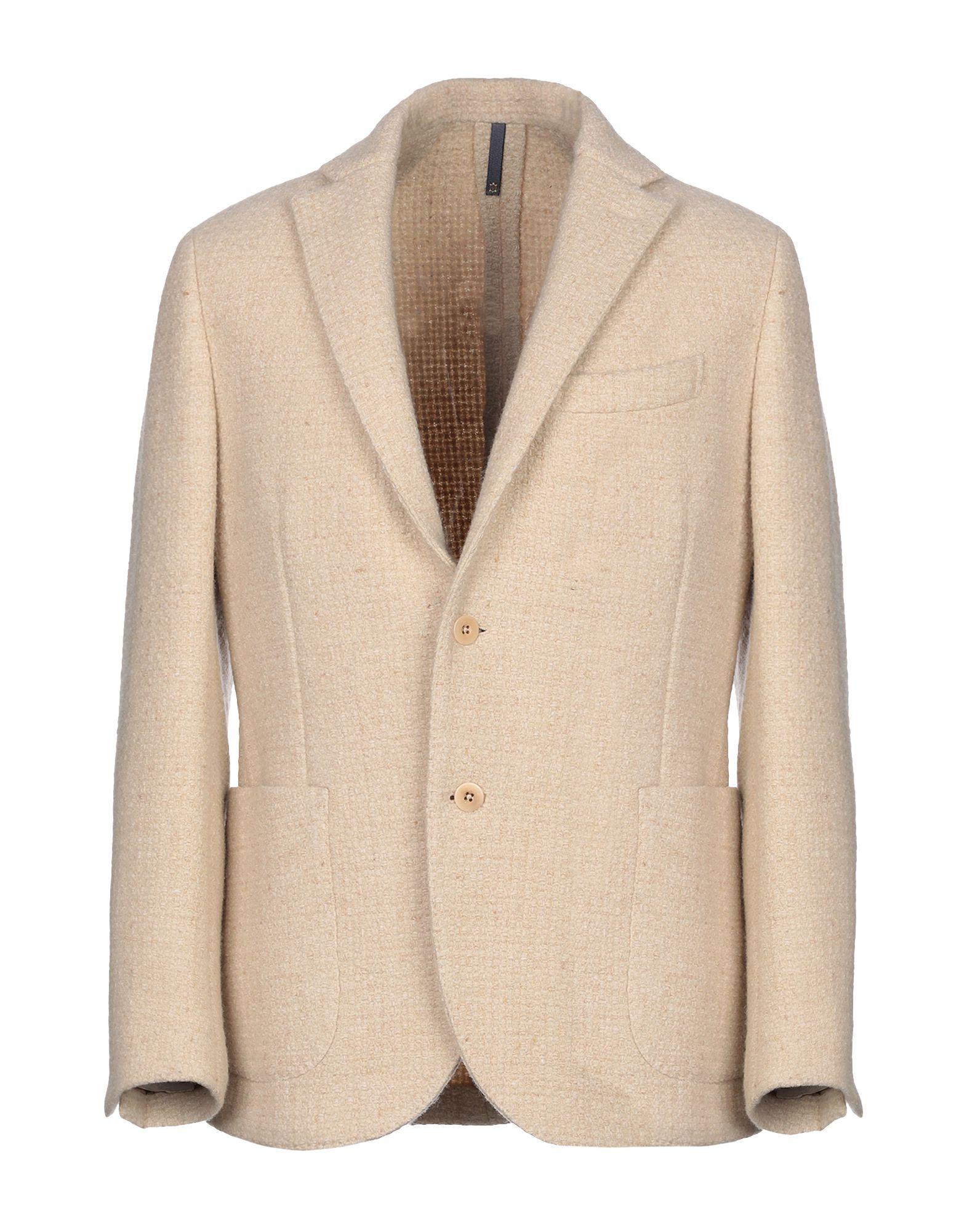 《セール開催中》MONTEDORO メンズ テーラードジャケット アイボリー 50 ウール 90% / ナイロン 10%