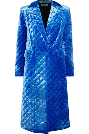 ROBERT RODRIGUEZ Quilted velour coat