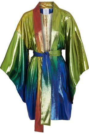 ROSIE ASSOULIN Dégradé silk-blend lamé kimono