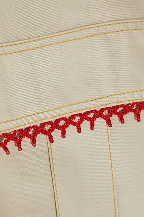 ROSIE ASSOULIN Oversized bead-embellished cotton-gabardine jacket
