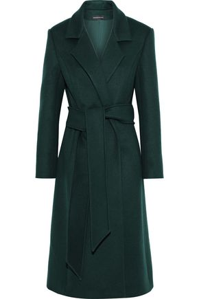 BRANDON MAXWELL Belted wool and cashmere-blend felt coat