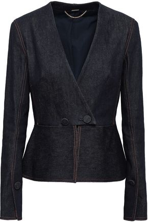 ADAM LIPPES Denim peplum jacket