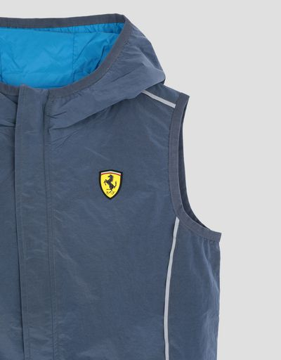Scuderia Ferrari Online Store - Reversible boy's gilet in water resistant fabric - Vests