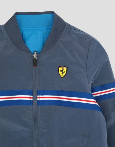 Scuderia Ferrari Online Store - Boy's reversible bomber jacket in water resistant fabric - Bombers & Track Jackets