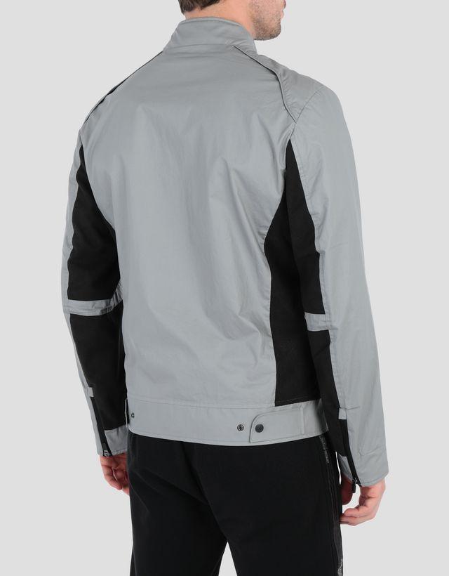 Scuderia Ferrari Online Store - Men's biker jacket with perforated side panels - Biker