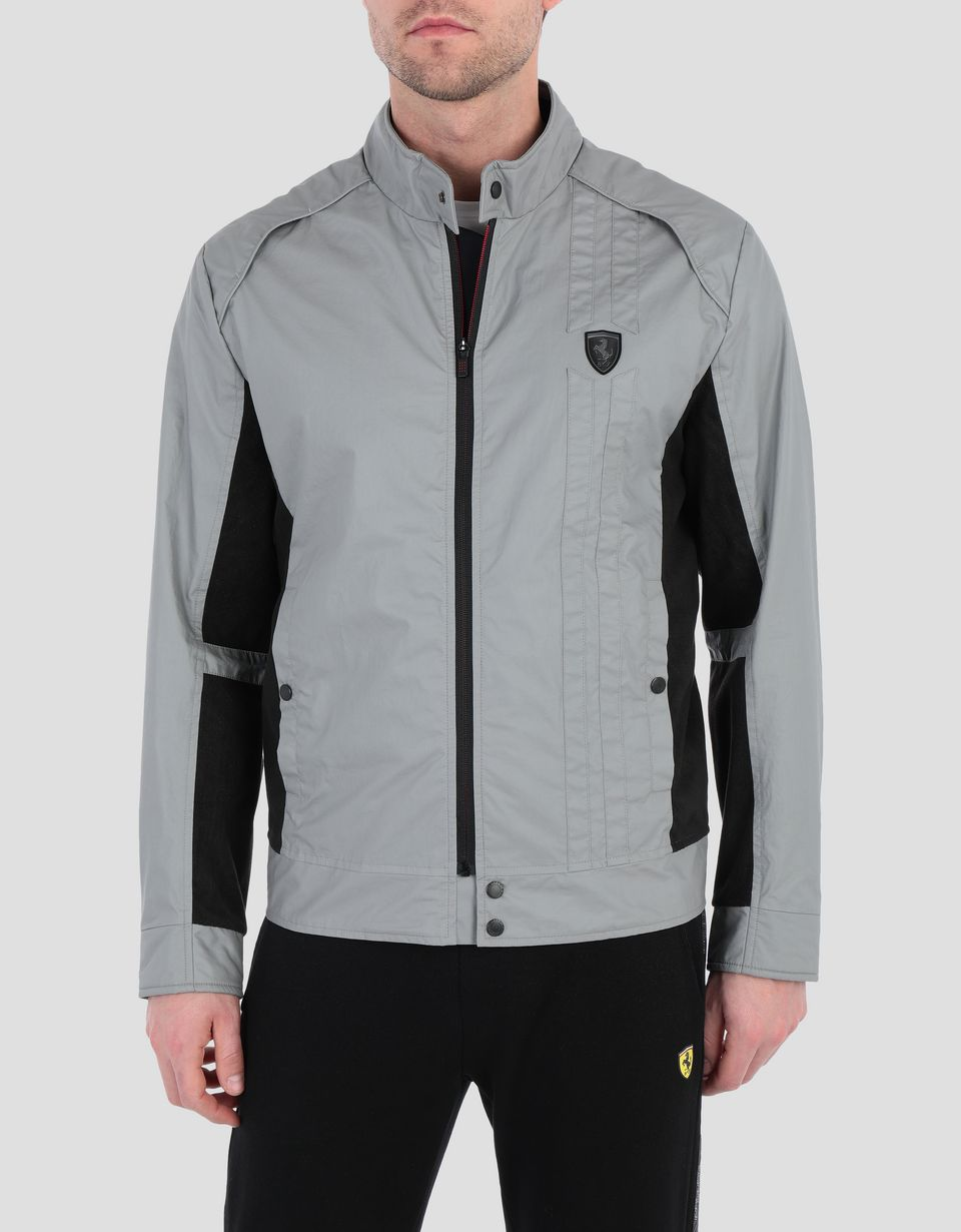 Scuderia Ferrari Online Store - Men's biker jacket with perforated side panels - Biker Jackets