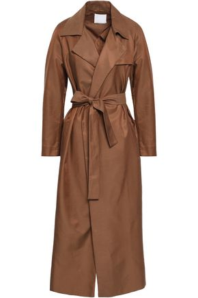 CHRISTOPHER ESBER Belted twill trench coat