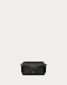 Mini Rockstud Grainy Calfskin Crossbody Bag