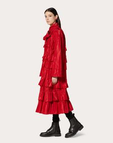 NYLON COAT WITH RUFFLES