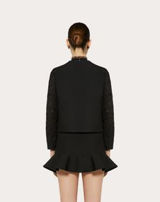 Veste en crêpe couture et guipure