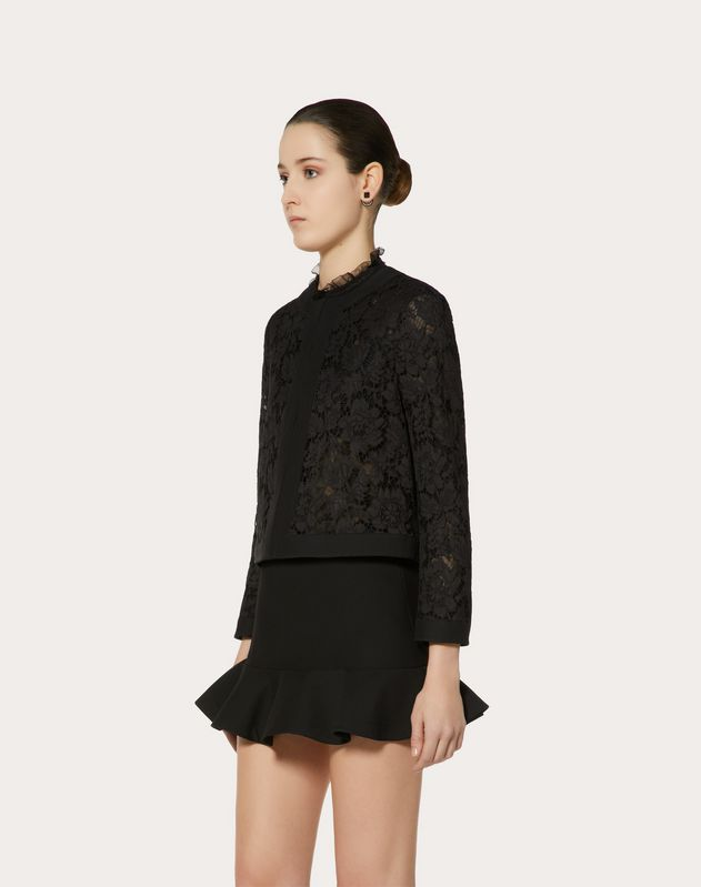 Giacca in Crepe Couture e Heavy Lace