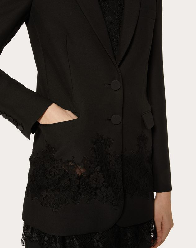 CREPE COUTURE AND LACE BLAZER