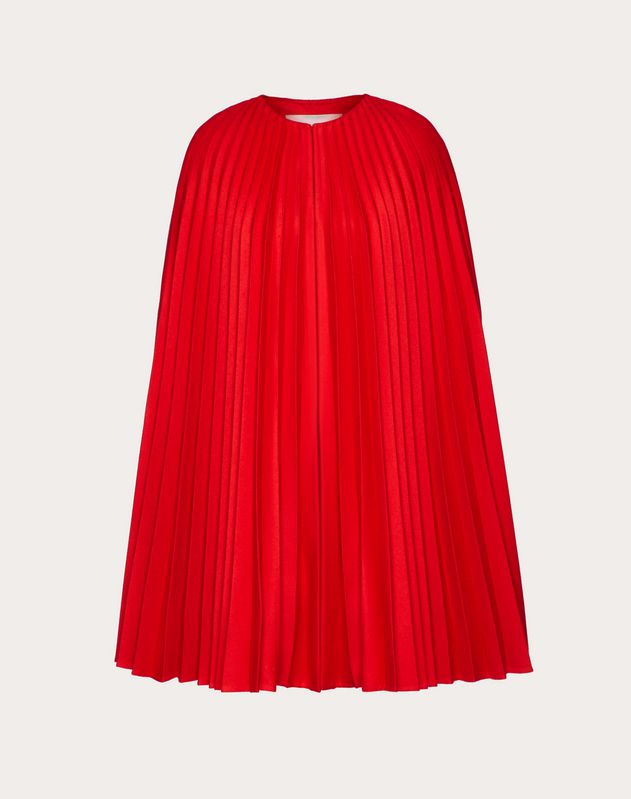 PLEATED LIGHT DRAP CAPE