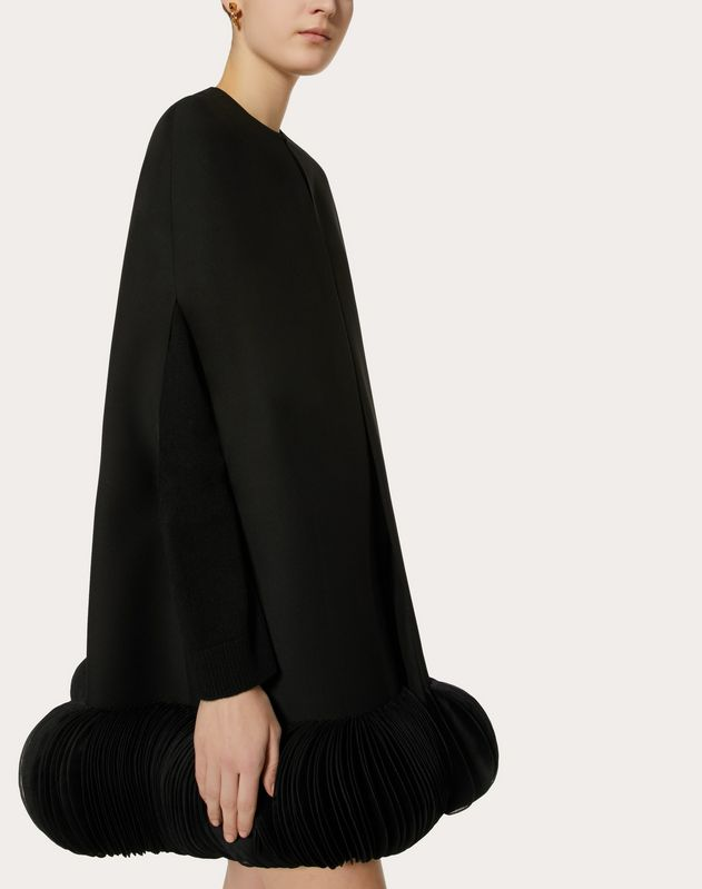Embroidered Crêpe Couture Cape
