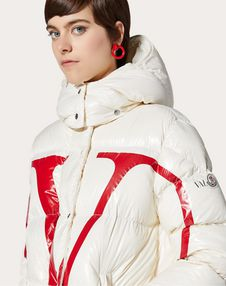 Moncler VLOGO lacquered nylon padded jacket