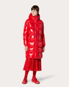 Moncler VLOGO 漆面尼龙长款衬垫夹克