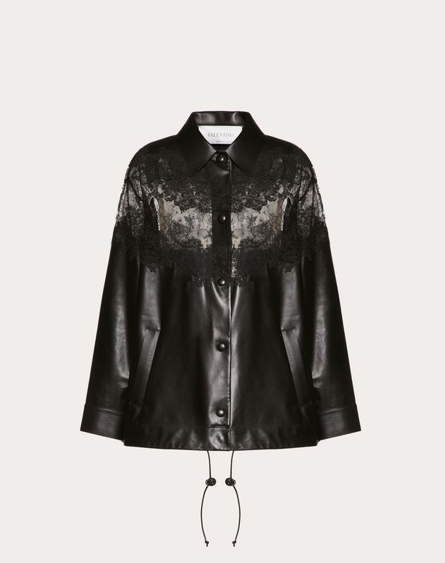 LEATHER AND LACE JACKET