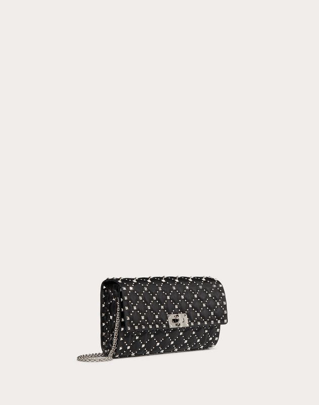 Rockstud Spike.It Crossbody Clutch Bag with Micro Studs