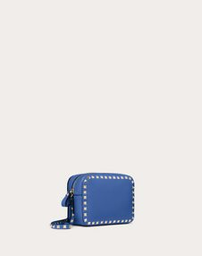 Small Rockstud Grainy Calfskin Crossbody Bag