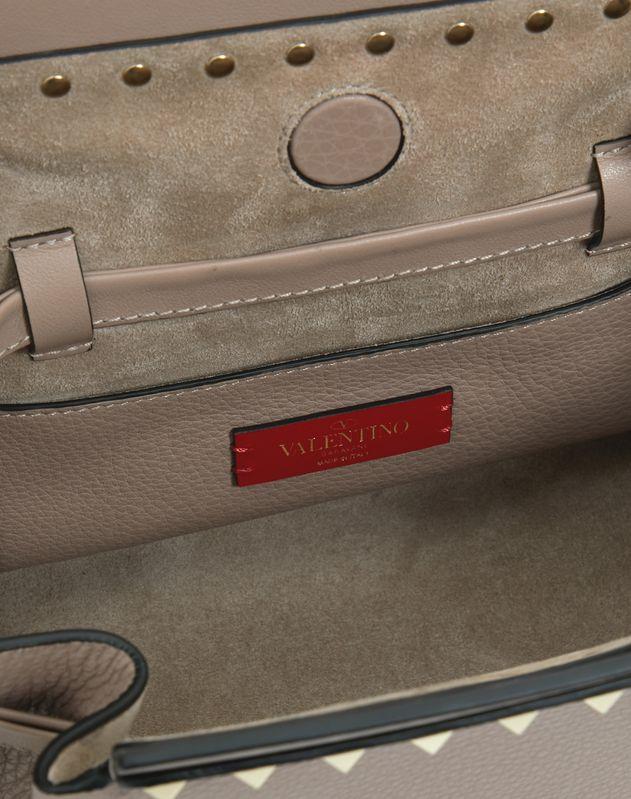 Large Rockstud Grainy Calfskin Bucket Bag