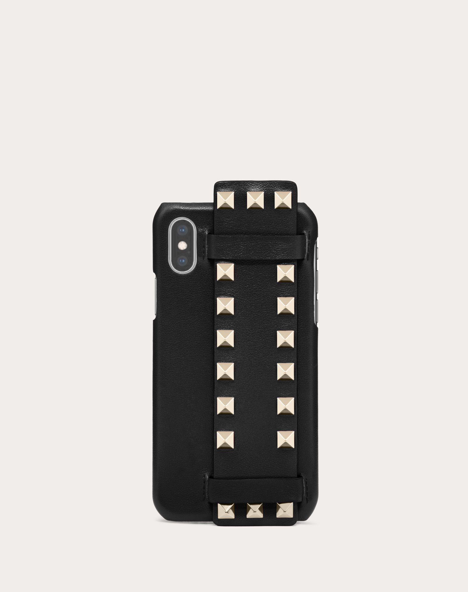 Coque en veau Rockstud compatible avec iPhone X/XS