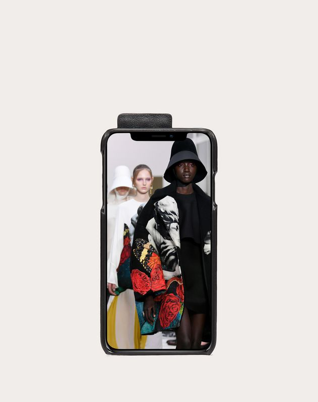 Rockstud Calfskin Phone Cover for iPhone XS Max