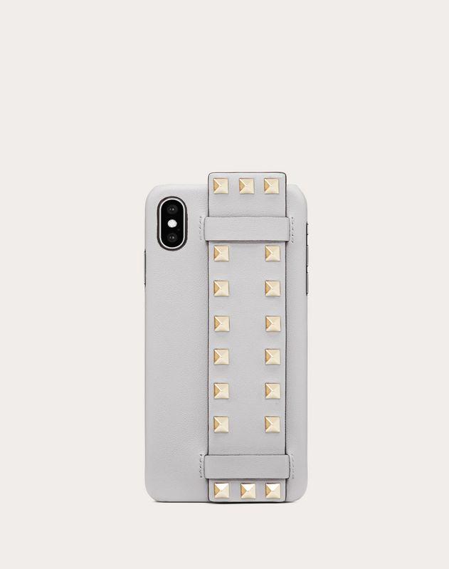 ロックスタッズ カーフスキン iPhone XS Max カバー