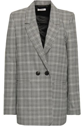 ANINE BING Oversized Prince of Wales checked jacquard blazer