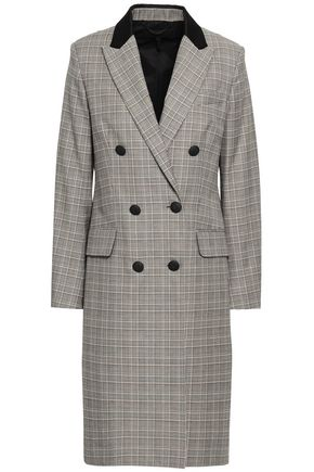 RAG & BONE Prince of Wales checked wool-blend coat