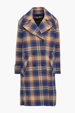 RAG & BONE Double-breasted checked woven coat