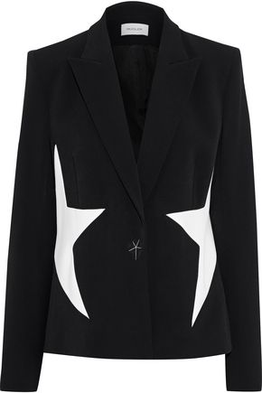 MUGLER Studded printed cady blazer