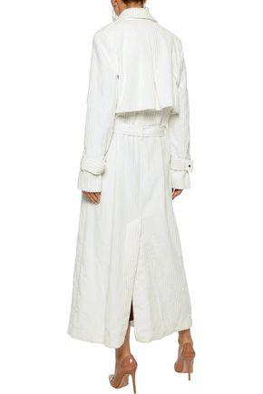MICHAEL LO SORDO Ribbed cotton-fleece trench coat