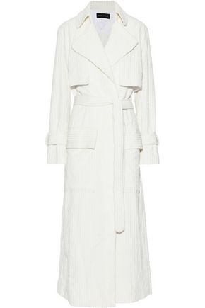 MICHAEL LO SORDO Ribbed cotton-fleece trench coat